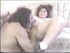 Brunette BBW gets talked into sucking and fucking Ron Jeremy