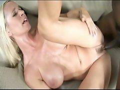 Blonde rides her black boyfriend cock
