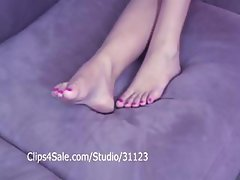 My red toe nails