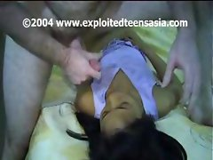 Sizzling Filipina hot ma' with a badly behaved Mrs. Sphincter's next door neighbor samples a white knob