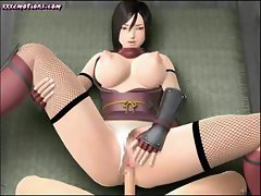 Busty 3d animated brunette gets her ass drilled hard with creampie