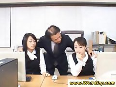 Behaving ladies with naughty wet caves of lust sample some egg vibes at the office