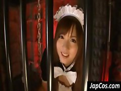 Unseasonable Asian cum-catcher with a generous herher does some time in the dungeon