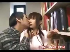 Busty Nurse Fucked By Geek In Library