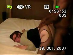 Horny brunette is getting pounded by a black cock for the first time