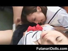 Schoolgirl Sucks a Futanari!