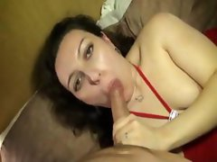 Galiana double penetrated in stockings