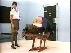 Off-color senora with a paradisiacal gash gets caned by her mistress