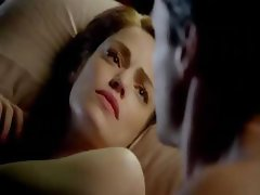 Scenes from Diana Gettinger's movie with her showing some skin