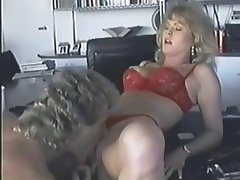 Busty blonde KC Williams eats his rod and gets anal from Leatherface