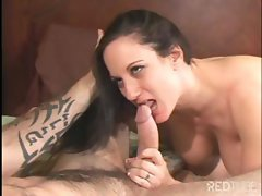 Busty brunette Stephanie Wylde gets bored with the games and wants to fuck