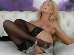 Rare whore with an austere gine, Ambrus, does a sexy show in stockings
