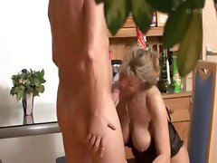 Blonde German mom is caught on spy cam having sex in the office