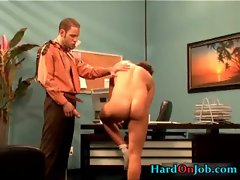 Hardcore gay porno at the office gay sex