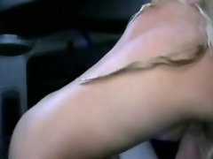 Dirty slut gets banged hard in strangers car by frat boy