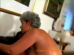 Old cunt fucked by younger stud