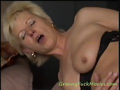Blonde GILF Maddy spooned
