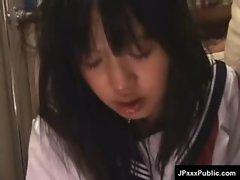 Public Sex in Japan - Asian Teens Fucked Outdoor 30