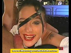 Watersports slut fuck suck and golden shower
