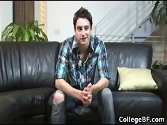 Alex Vaara jerking his fine college cock gay porn