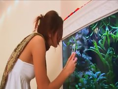 undress pussy on aquarium