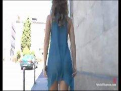 Girl gets fucked in public