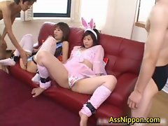 Hitomi and Haruka pretty teenagers