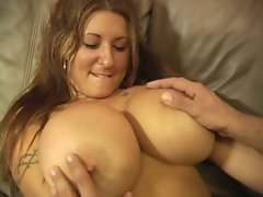 Huge Tit&#039_s Get Cummed On