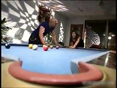 Hot asian babe sucking hard cock at pool
