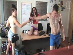 Bunch of australians get naked around the office for a bit