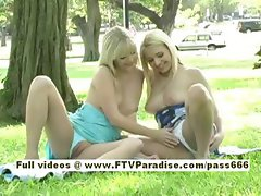 Yana and Sandy two cute blonde girls go on a picnic