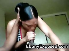 Lovely amateur ebony buries her face part1