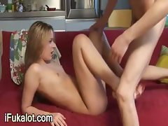 hot blondie making blowjob and hardfuck