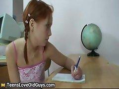 Cute redhead teen showing part3