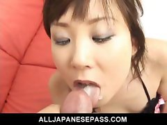 Sexy Japanese MILF gets face fucked deep