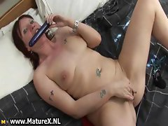 Horny housewife spreading her wet pussy part6