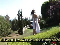 Gabby awesome superb redhead girl outside talking