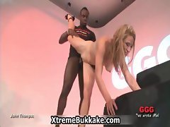 Bukkake loving blonde babe gets fucked part6