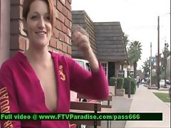Jade awesome superb redhead girl outside talking