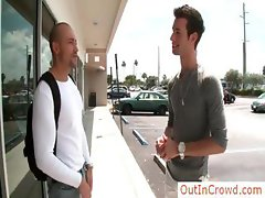 Two hot gay studs fucking ourdoors part2