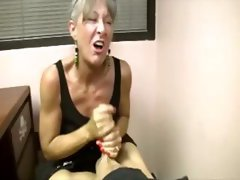 Mature lady wants young cock to cum all over her