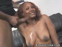 Dirty And Rough Black Slut Face Fucking