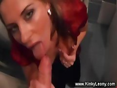 Kinky slut enjoys a warm golden shower