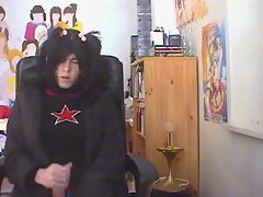 Emo Femboy Wanks and Cums