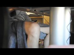 Male roommate hidden camera under desk