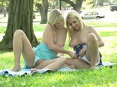 My Best Friends Sandy and Yana Having Fun In Public