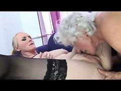 Lesbian Fun For Three Grannies - Pt. 2