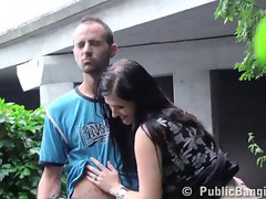Risky public threesome with a pregnant woman WAY COOL