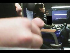 jerking next to turkish girl on train