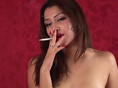 Allie Ray - Smoking Fetish at Dragginladies